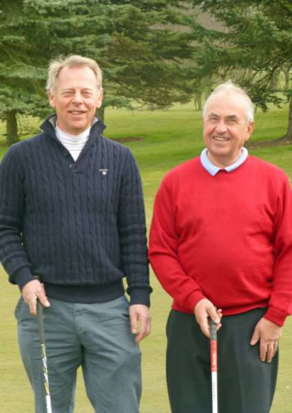 Paul Wilkinson (left) and John Mayman, who now lie second in league D of Burghley Park's Winter League.