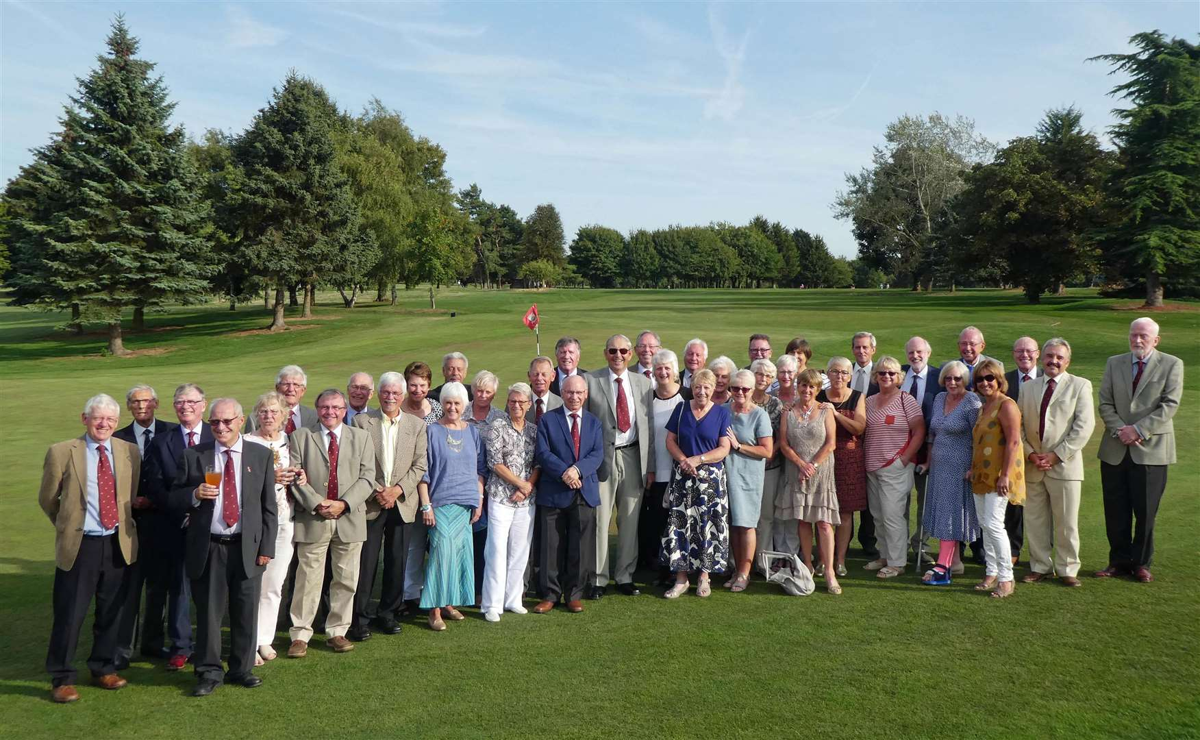 The Past Captains who took part in the Burghley Park event. (3894467)