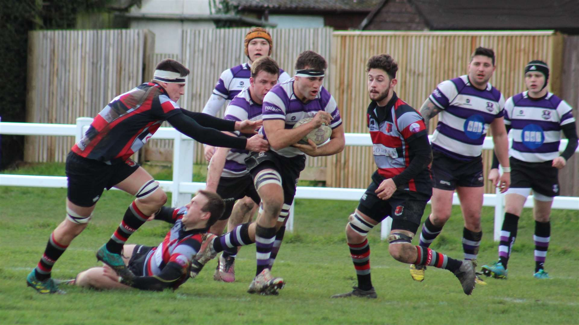 Match action from Stamford's victory over Dunstablians on Saturday. Photo: Darren Dolby (6800343)