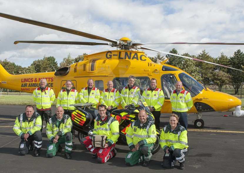 The Lincs & Notts Air Ambulance crew are one of the first UK air ambulances to deliver life-saving blood transfusions.