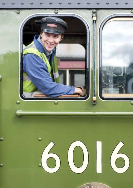 Driving experience at Nene Valley Railway - Mercury reporter Alex Moore. ''Photo: Lee Hellwing EMN-150821-152138001