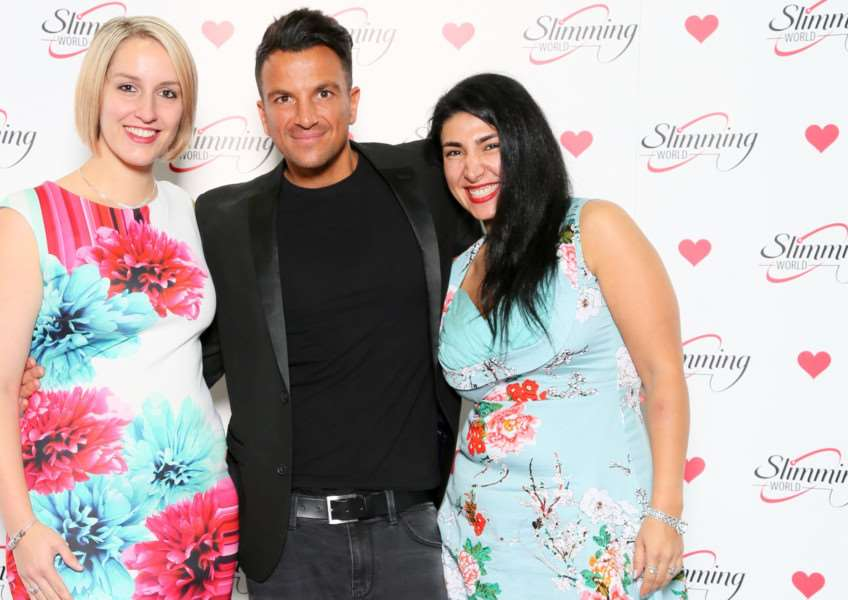 Slimming World consultants with Peter Andre