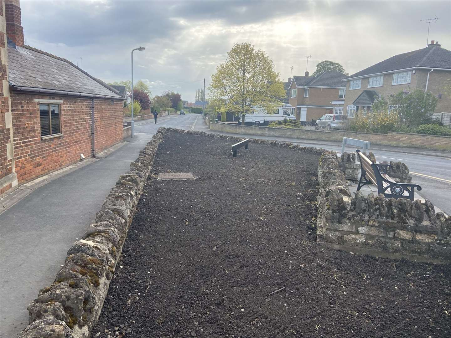 The flower bed in Coggles Causeway will hold a model of a Formula 1 race car