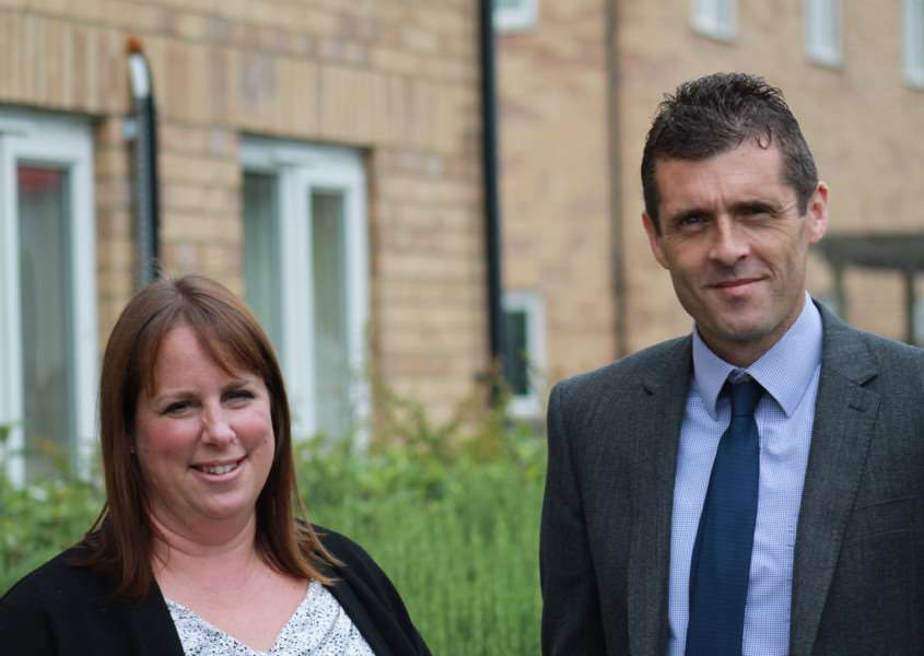 Planning manager Hannah Guy and senior land manager David Morris have joined Larkfleet Homes EMN-160908-095244001