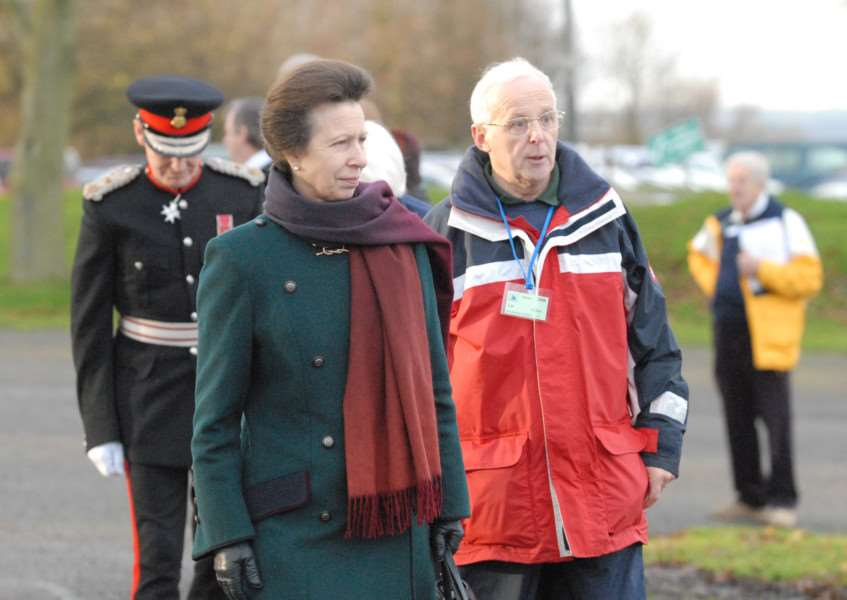 HRH Princess Anne during her visit to Rutland Water Sailability in 2008.''''Photo: Oliver Wilson