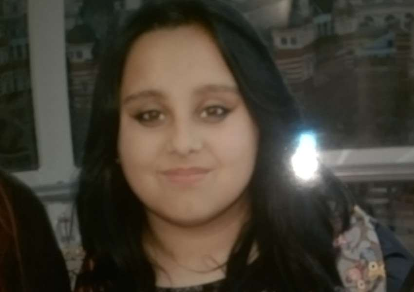 Amina Smith, 14, is missing and was last seen at Bourne bus station at 3.30pm on January 25, 2016. EMN-160126-111322001