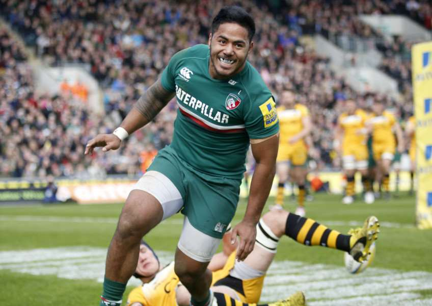 Leicester Tigers centre Manu Tuilagi. Tiger Images EMN-140414-172020001