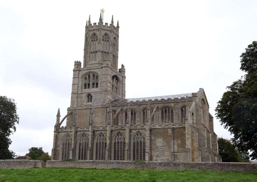 Appeal Launch: Fotheringhay: St Mary and All Saints Church 'The Friends of Fotheringhay Church appeal launched by Appeal Patron HRH The Duke of Gloucester. ''Wednesday September 16 2015 NNL-150916-222536009