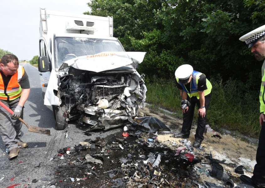 Fatal RTC on A47 near Eye involving a car and delivery van EMN-150623-193206009