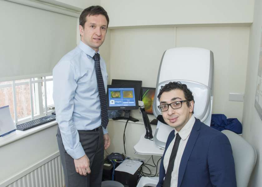 Reporter Brendan McFadden visited Simmons Optometrist in Oakham to find out about its Optomap, Daytona Plus device. By Lee Hellwing.
