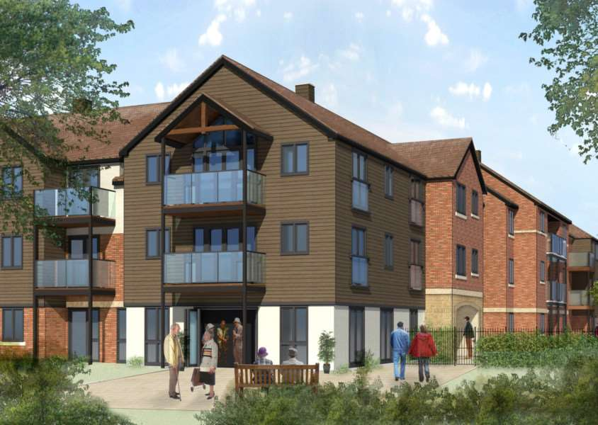 An artist's impression of McCarthy and Stone's proposed retirement complex on the former Lonsdale House site in Oakham. EMN-150930-103613001