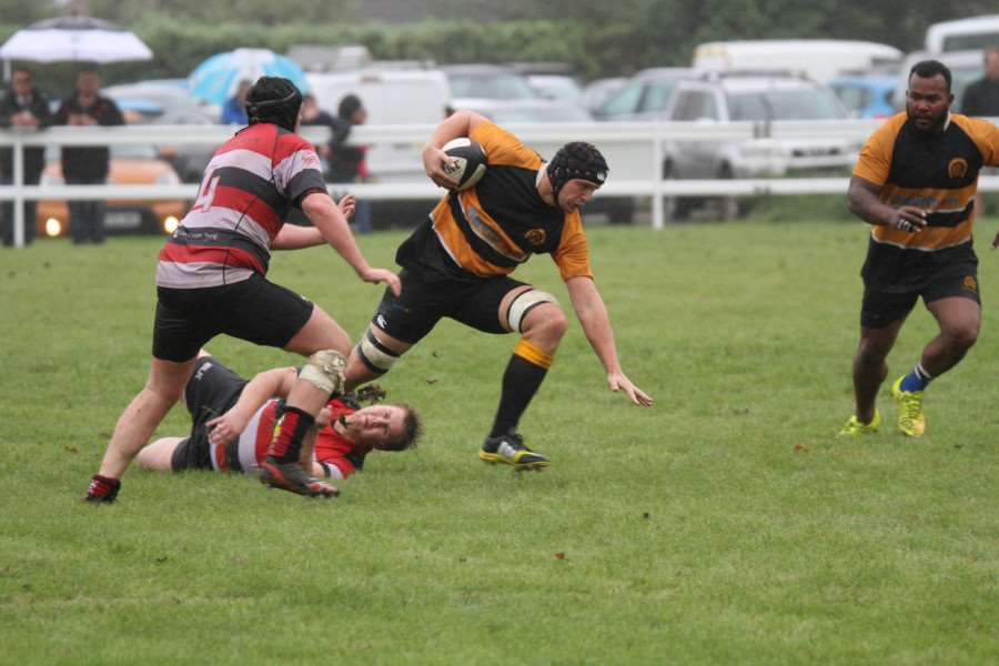 Action from Oakham's narrow win over Oundle