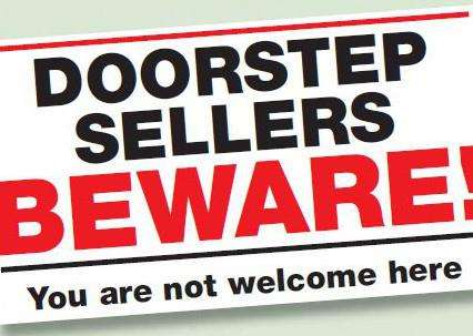 Warning about door to door sellers