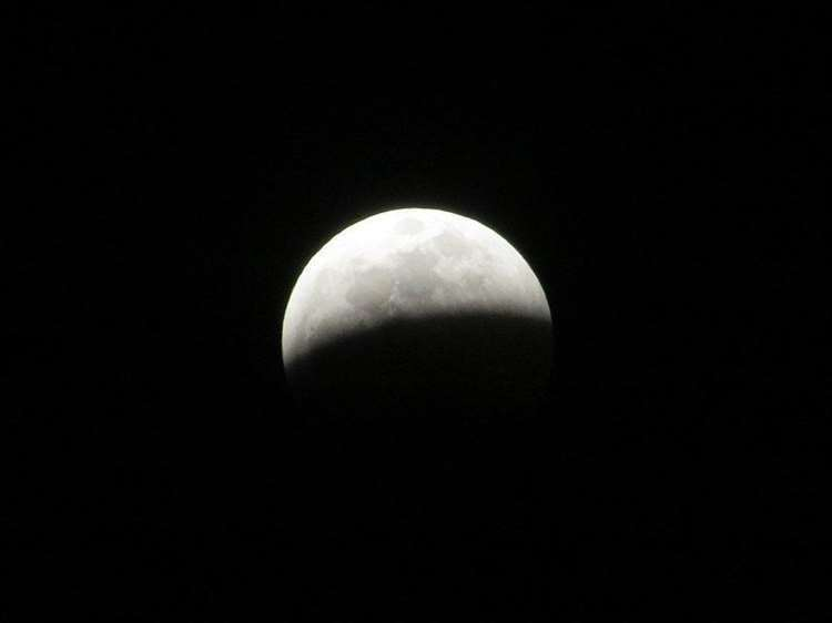 The partial lunar eclipse may appear grey tonight.Picture: O'Dea at Wikimedia Commons