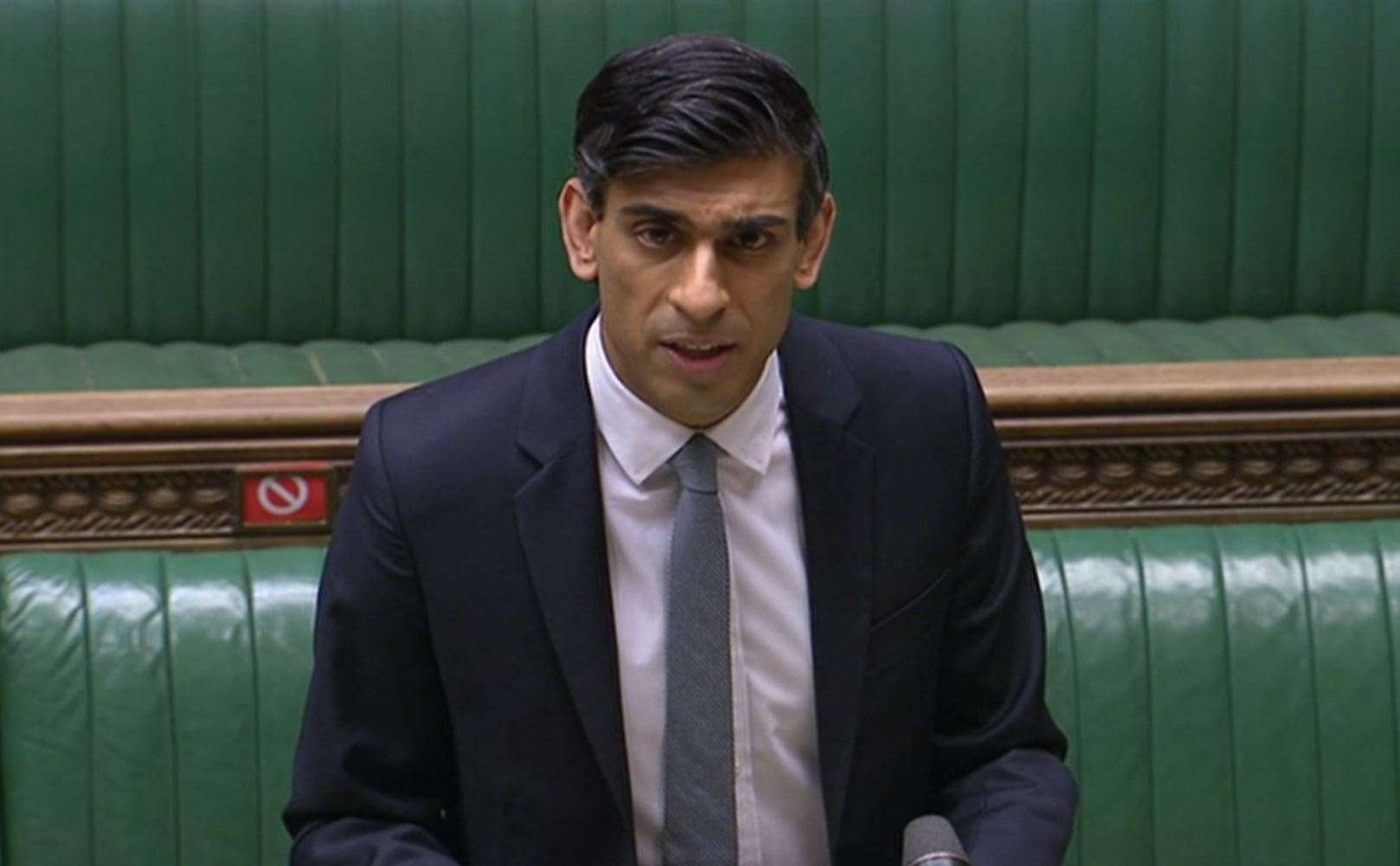 Chancellor of the Exchequer Rishi Sunak delivering his Budget to the House of Commons