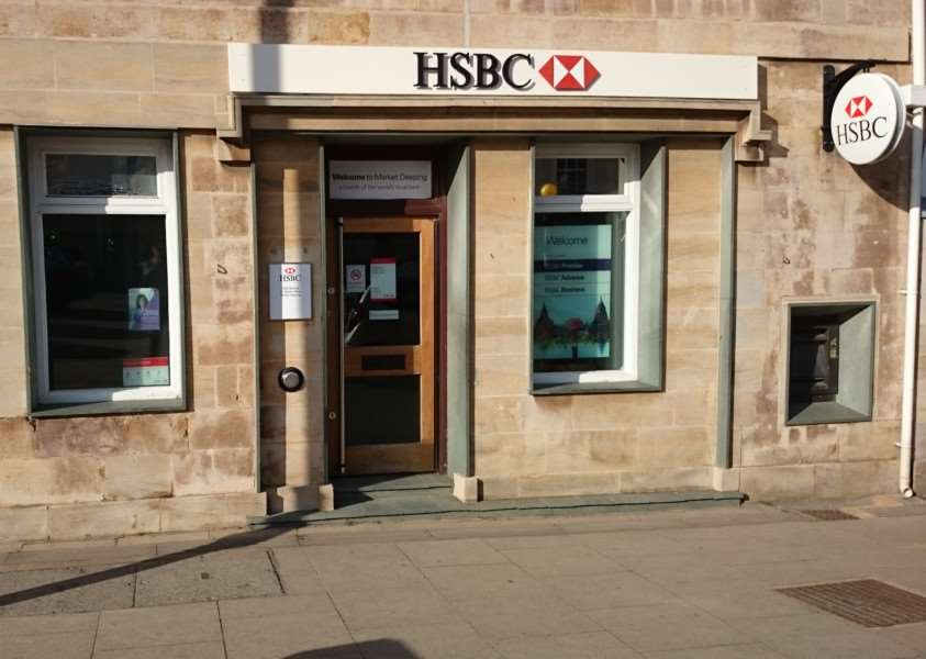 HSBC in Market Place, Market Deeping, which is to close on August 28, 2015. Photo: Adam Brookes. EMN-150406-130026001