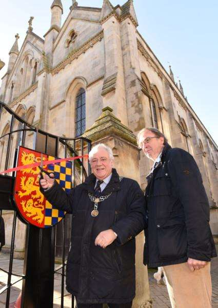 Mayor John Dawson with Don Lambert, chair of Stamford Urban Group, cut the ribbon EMN-170501-122619009