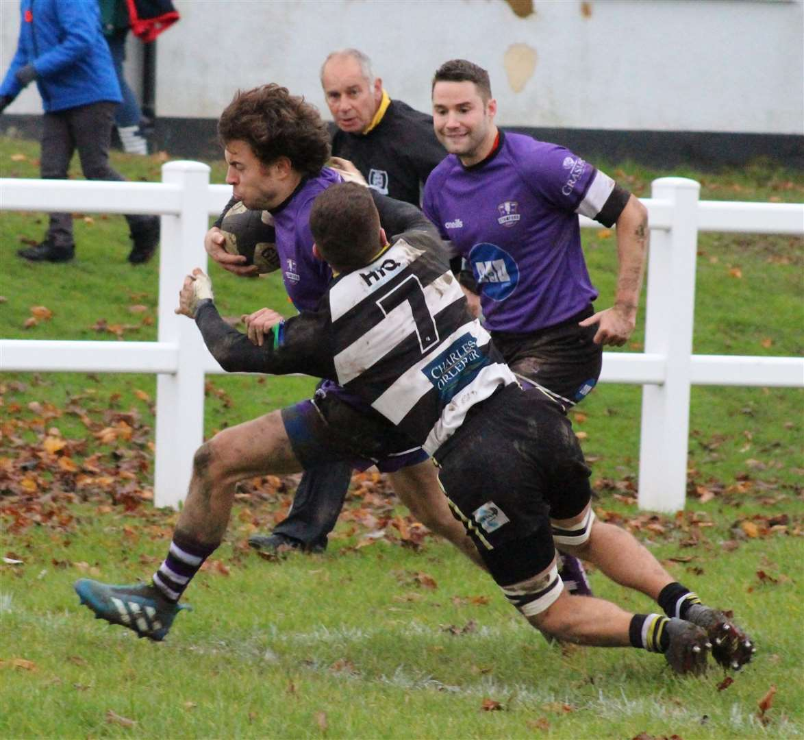 Action from Stamford's victory at Rushden & Higham on Saturday. Photo: Darren Dolby (21889416)