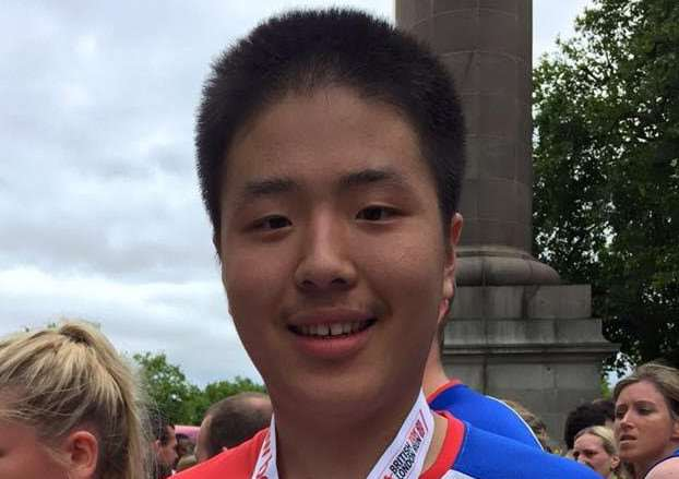 Zishi Zhang after he took part in the Bupa London 10k in 2015.