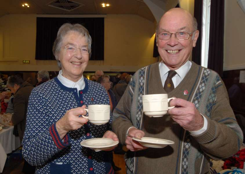 Annual McGregor coffee morning at Bourne Corn Exchange. Margaret and Michael McGregor.'Photo: MSMP281113-010ow ENGEMN00120131128125834
