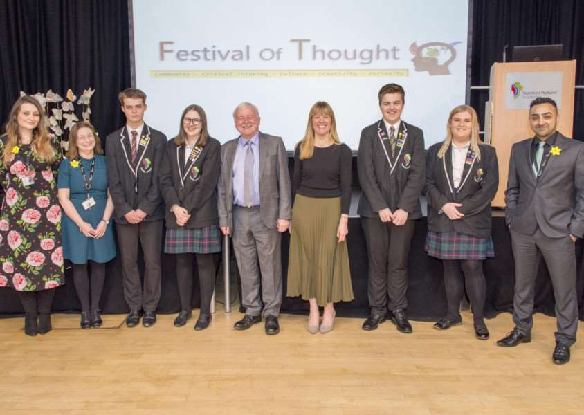 Launch of the Festival of Thought at Stamford Welland Academy'Photo: Lee Hellwing