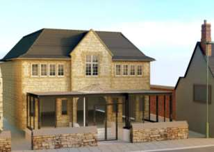 An architect's impressions of how the new frontage to Uppingham town hall could look. EMN-141216-143914001