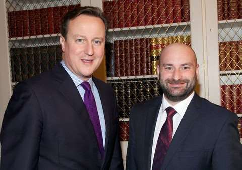 Coun Marc Jones, Lincolnshire Police and Crime Commissioner, with Prime Minister David Cameron.