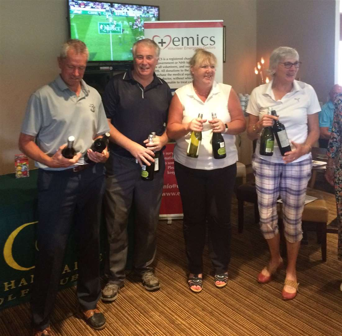 The winners of the Captains Weekend Am-Am competition. Malcolm Boyd, Chris Ellis, Susie Ellis and Dee Ginnity. (15149708)