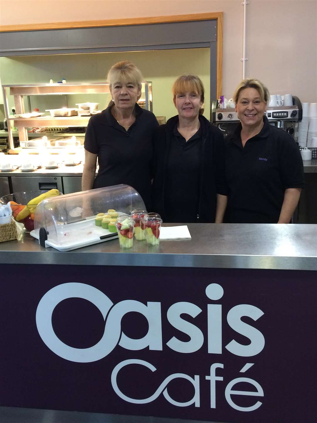 Jane Fear, Sonia Scullion and Mandy Dennis of Oasis Café, Market Deeping (6975760)