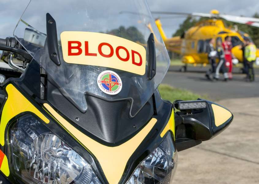 The blood is supplied by Lincoln County Hospital and delivered daily by the Lincolnshire Emergency Blood Bikers.