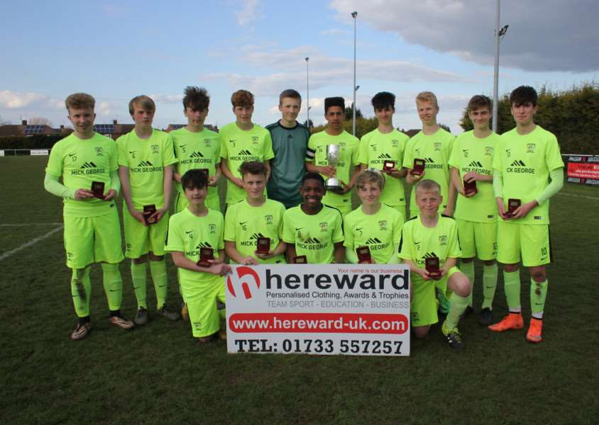 Deeping Rangers won the PFA Under-15 Cup