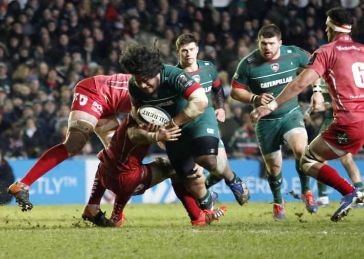 Leicester Tigers v Scarlets. Photo: Tiger Images EMN-150120-102656001
