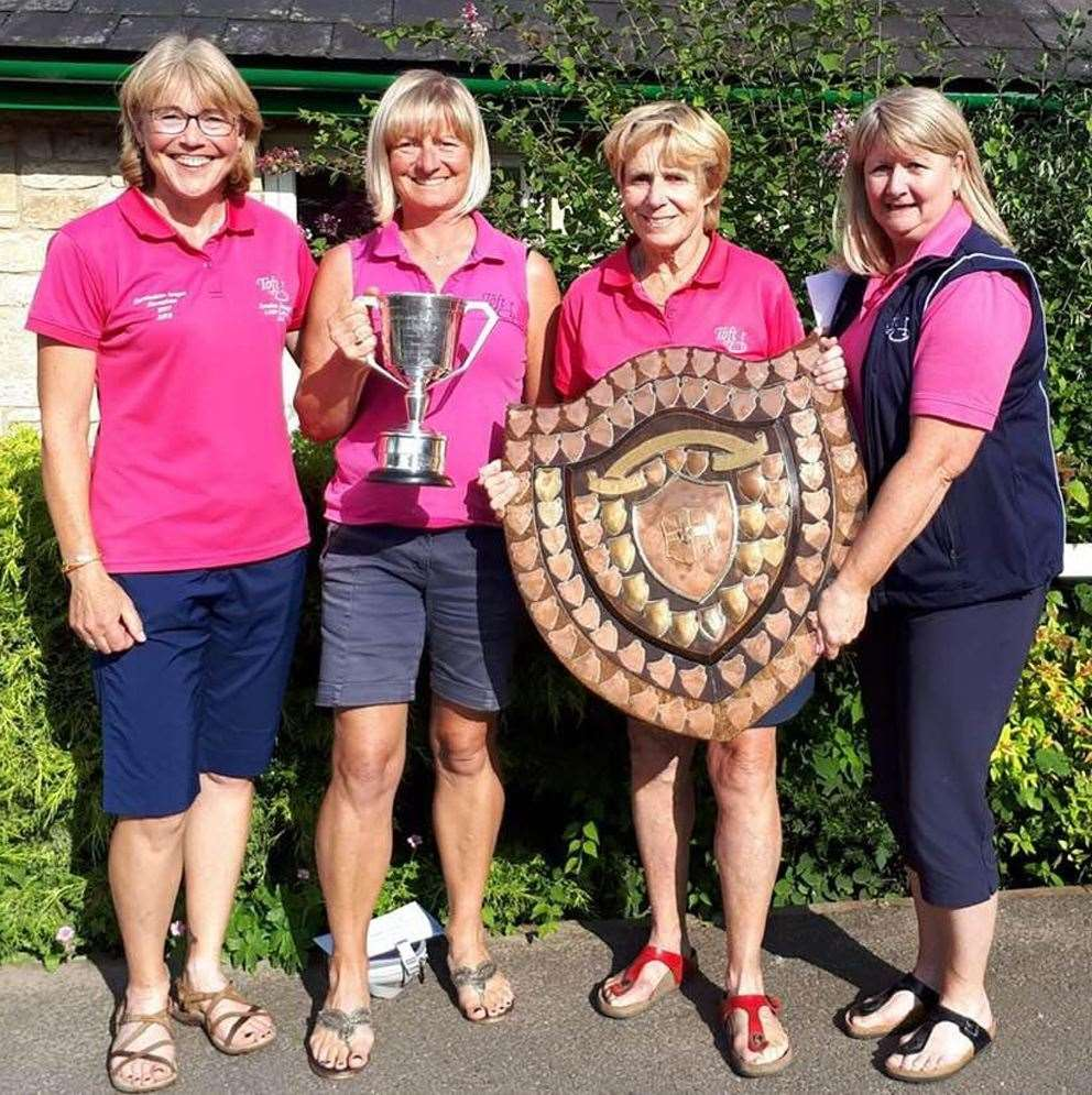 Toft's triumphant team of Louise Bradley, Lisa Hollingsworth, Cathy Lee and Alison Ravenhill. (15895059)