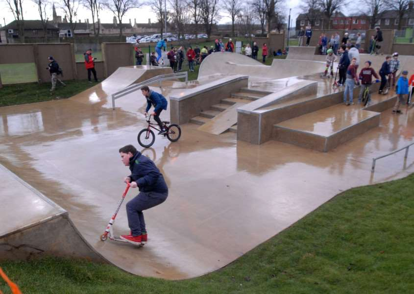 Official opening of Stamford Skatepark.'Photo: MSMP211213-006ow ENGEMN00120131221173632