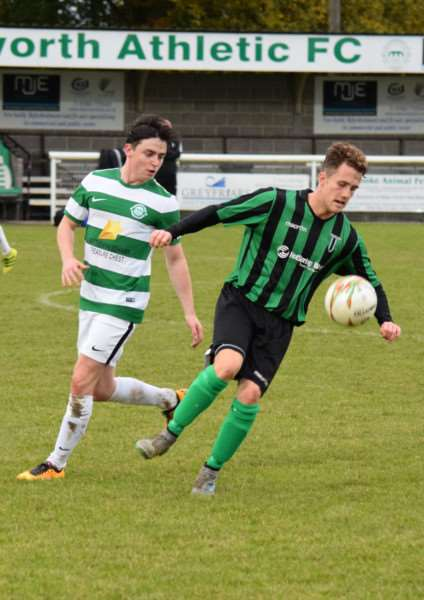 Action from Lutterworth Athletic against Blackstones. Photo: Martin Davies EMN-160211-164516001