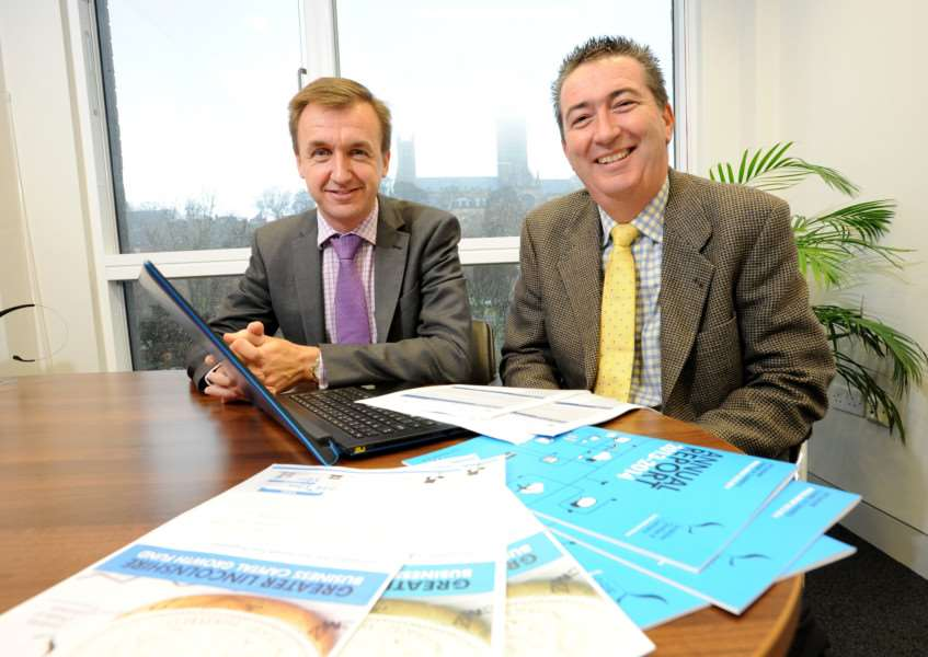 Chief executive Simon Beardsley and investment readiness advisor Ian Jones of Lincolnshire Chamber of Commerce. Photo by Stuart Wilde.