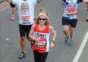 Penny Hedley Lewis, from Corby Glen who ran the marathon in aid of the British Red Cross. EMN-150429-103509001