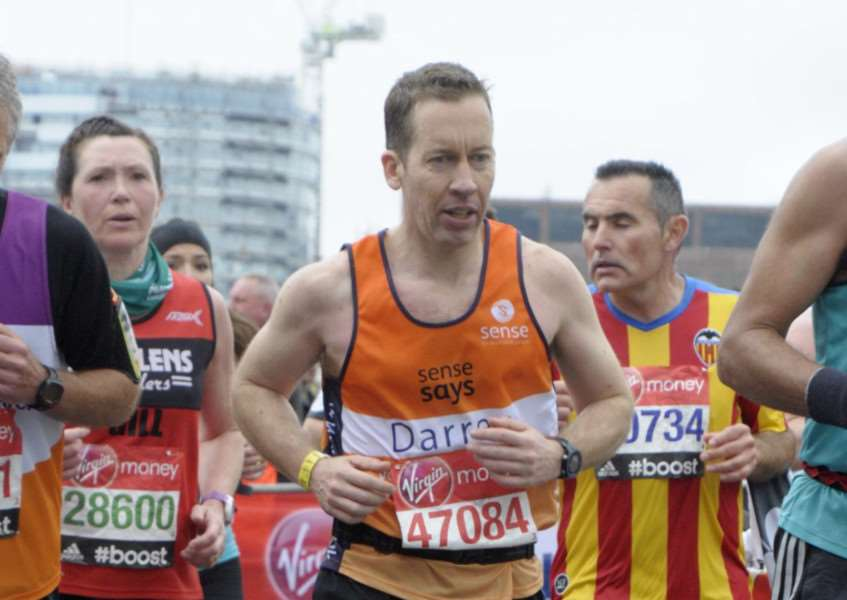 Darren Thorley, from Bourne who ran the marathon in aid of Sense. EMN-150429-103457001
