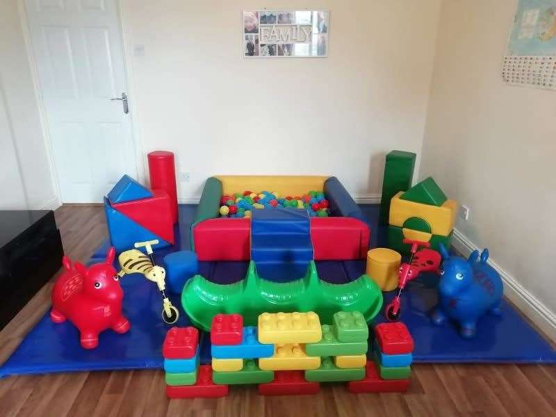 A mini soft play set