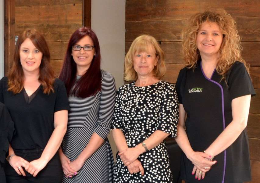 The Fifth Avenue team, from left, Nadia Greenaway, Lucy Spinks, Debbie Greenaway and Rachel Clucas.