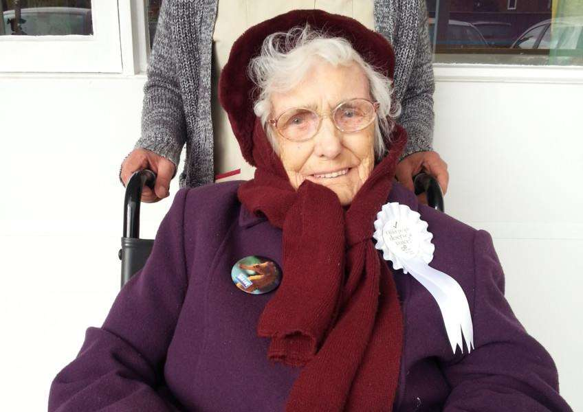 104-year old Eunice 'Betty' Knight says she has never missed a vote in support of the Liberal Democrats.
