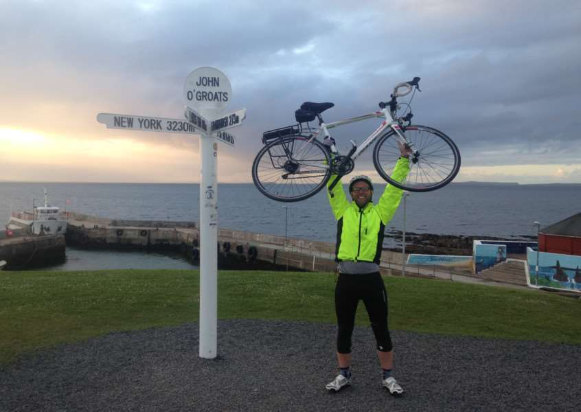 Mercury sports editor John Evely completes his Land's End to John O'Groats cycle challenge EMN-151106-103539001