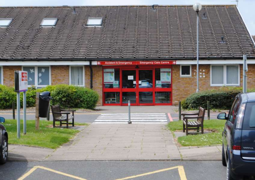 The accident and emergency department at Grantham Hospital.