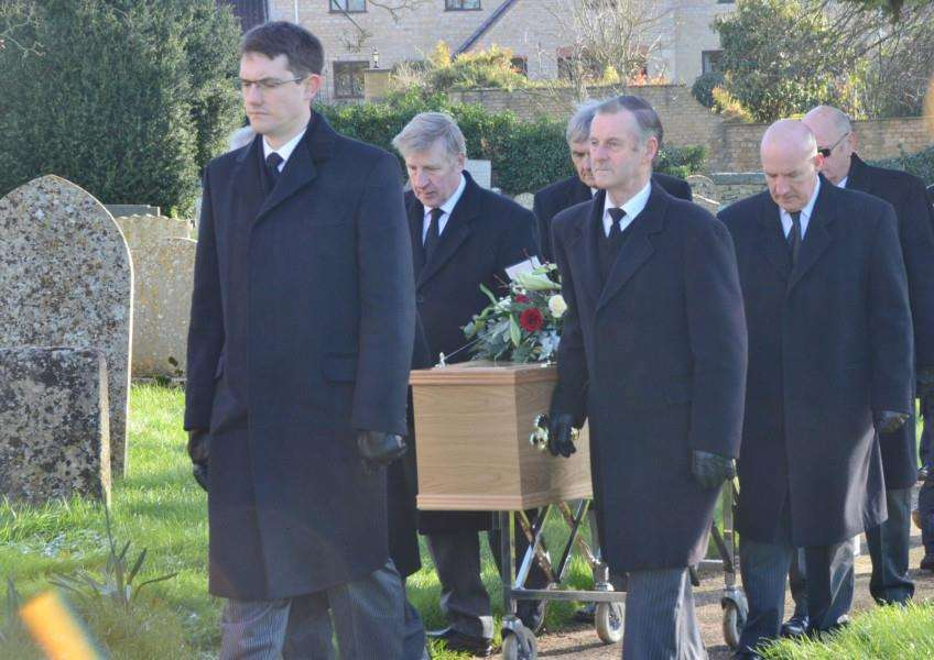 Roger Begy's funeral at Greetham Church EMN-160215-182551009