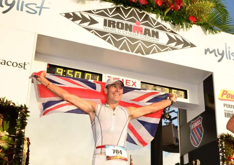 Roger Canham completes the Ironman world championship event'Photo: MSMP Ironman Canham ENGEMN00220121016150301