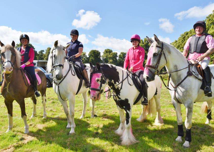 Canter for cure at Burghley Park. Jeninne Horner, Tess Cope, Grace Lane and mark Hawkes EMN-160718-090033009