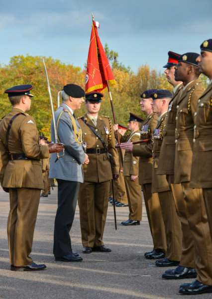 The prestigious honour of the Fahnenband has been awarded to 7 Regiment RLC in recognition of its 52 years distinguished service in Germany.'Photos: Cpl Jamie Dudding EMN-151021-161008001
