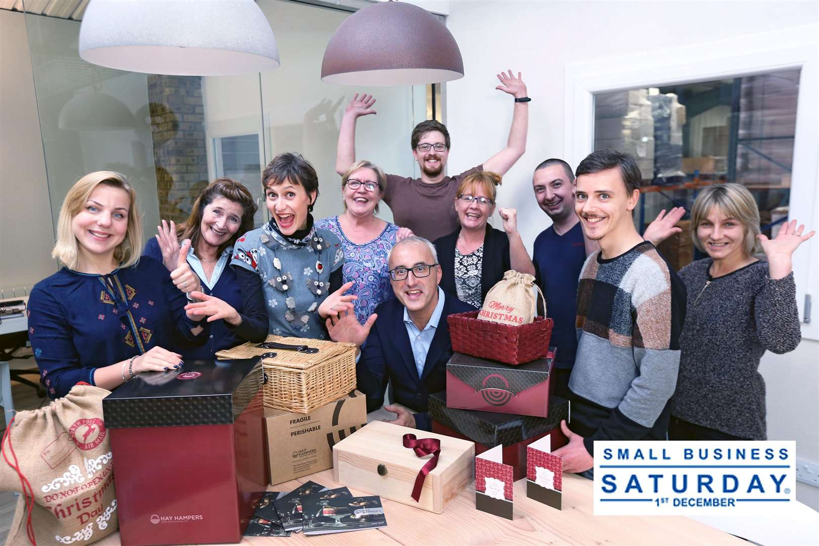 The team at Hay Hampers who were named in the Top Small Biz 100