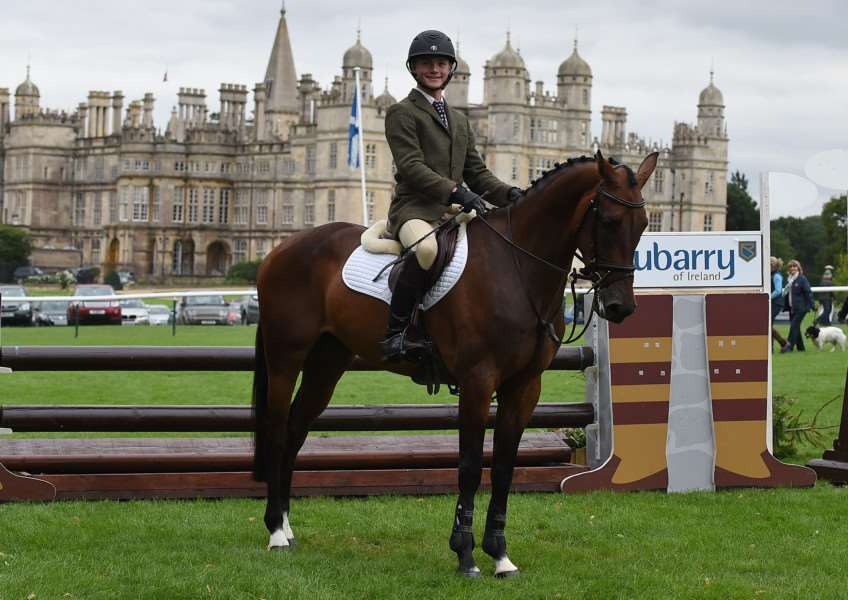 Noah Brook riding G Star; winner of the Dubarry Burghley Young Event Horse, 4 year Old Final during The Land Rover Burghley Horse Trials near Stamford in Lincolnshire, UK, on 4th September 2015 EMN-150509-110632001