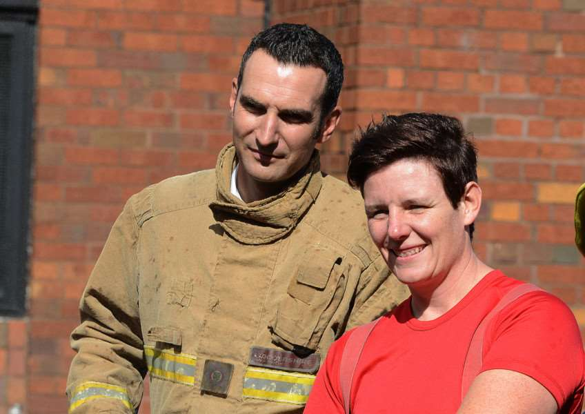 Dan Moss, head of prevention and protection at Lincolnshire Fire and Rescue, with firefighter Maria Buck. Photo supplied.